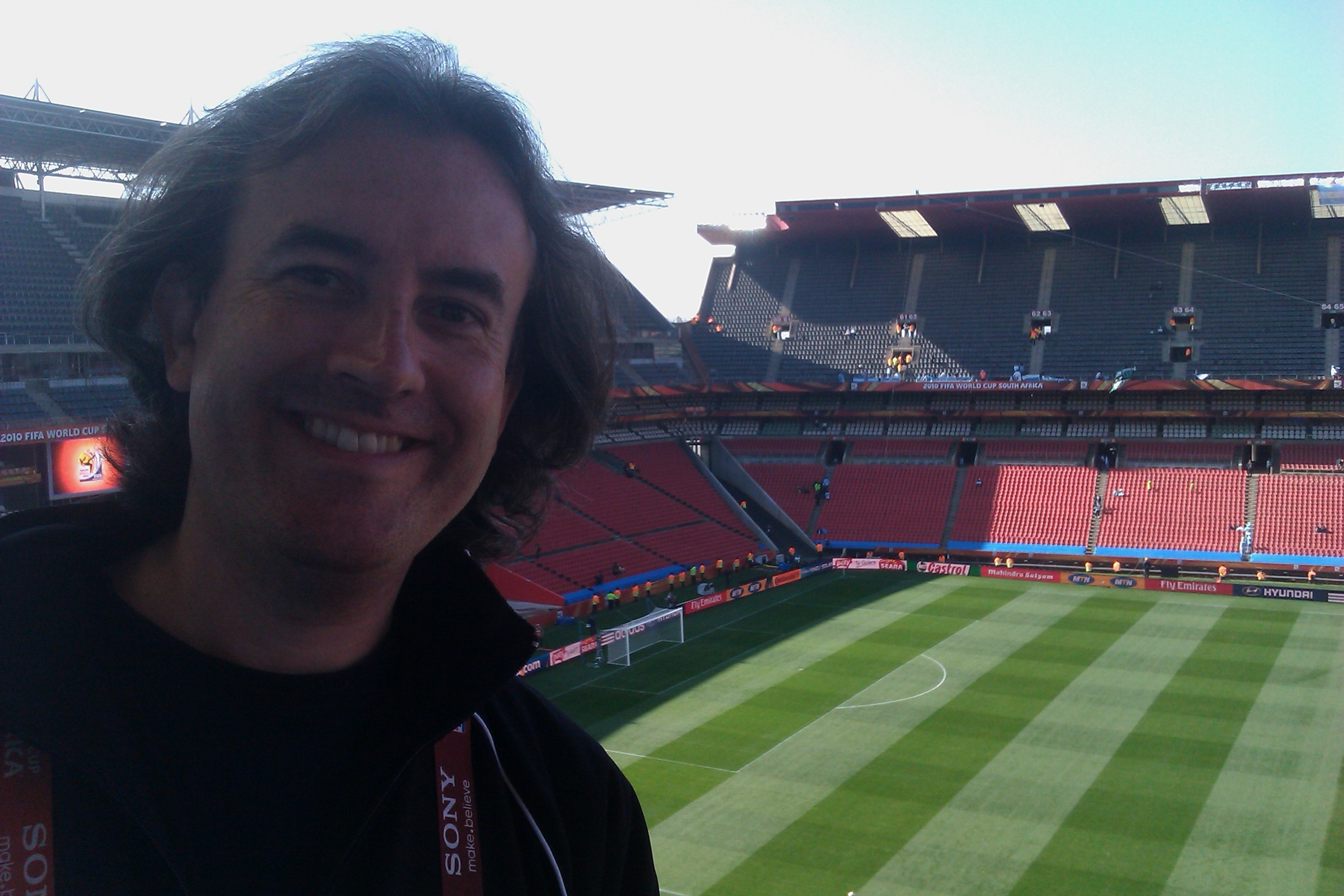 At Ellis Park ahead of Argentina/Nigeria - you could sense the history here...