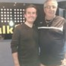 Bob Bubka making his debut in the talkSPORT studios alongside yours truly!