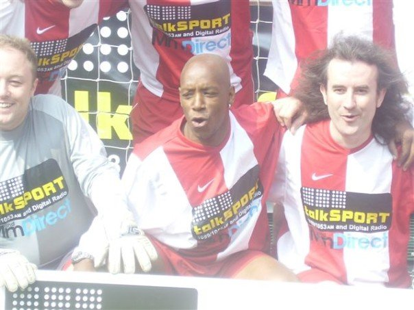 2007 I think? Just won the Breakfast v Drive 5-a-side and celebrating with Wrighty!!