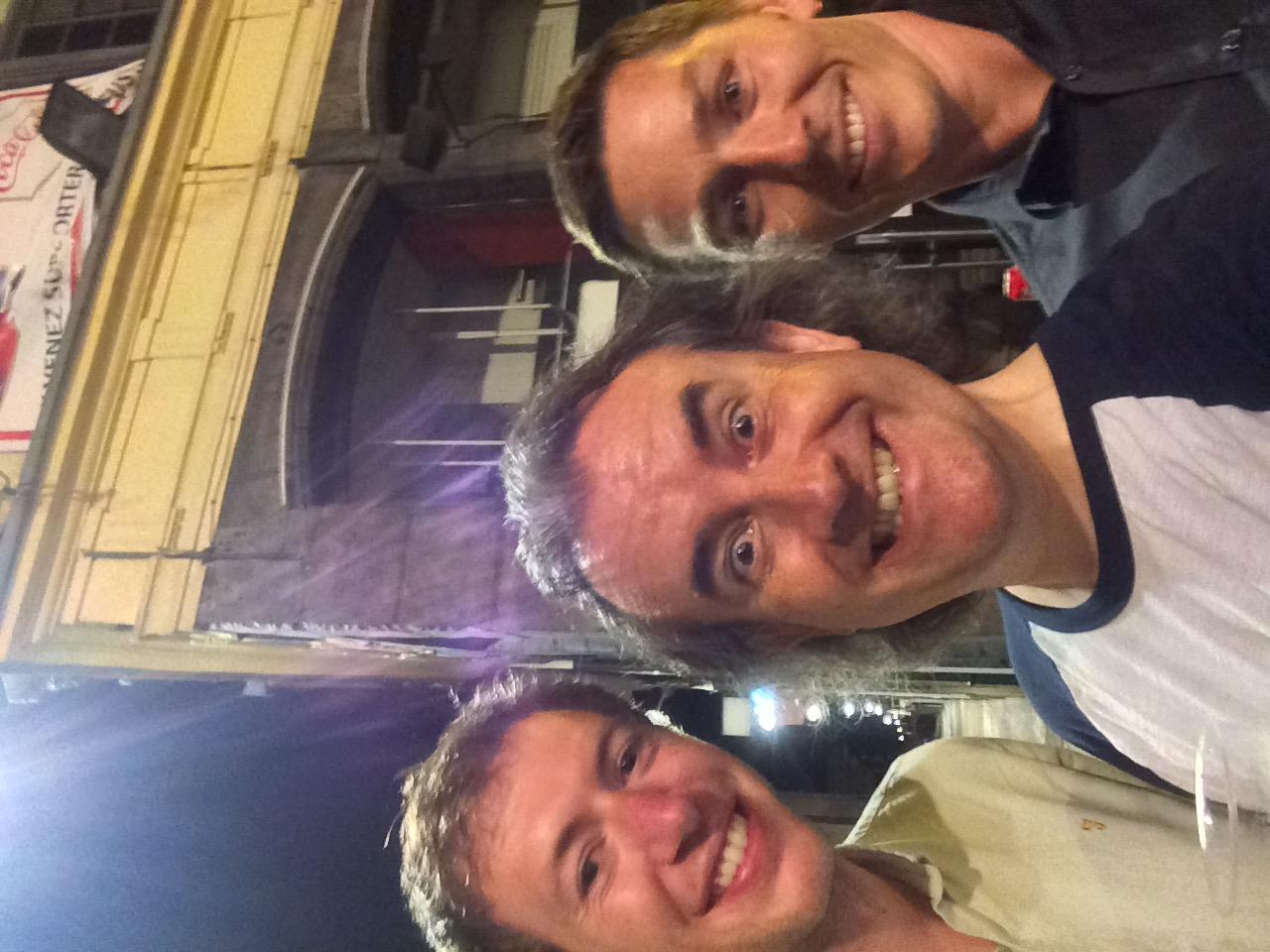 (L-R Scott, Me, Matt in amongst it in Lille