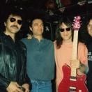 (l-r: Tony Iommi, Gaz Morris, Eddie Van Halen, some hairy schmuck)